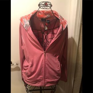 Workout jacket IZOD stretch in pink and melon